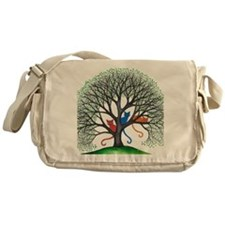 Iowa Stray Cats in Tree by Lori Alex Messenger Bag