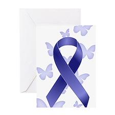 Blue Awareness Ribbon Greeting Card