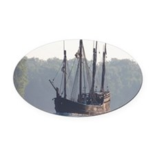 pinta and the nina Oval Car Magnet