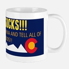Colorado sucks! Bumper sticker Mug