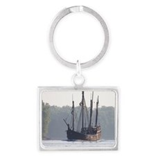 pinta and the nina Landscape Keychain