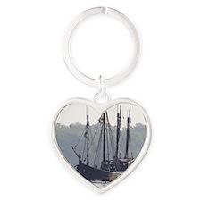 pinta and the nina Heart Keychain