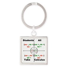 all students take calc Square Keychain