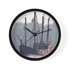 pinta and the nina Wall Clock