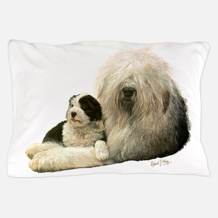 Old Eng and Pup Pillow Case