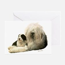 Old Eng and Pup Greeting Card