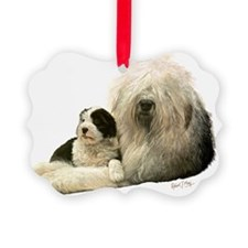Old Eng and Pup Ornament