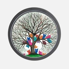 Connecticut Stray Cats in Tree by Lori  Wall Clock