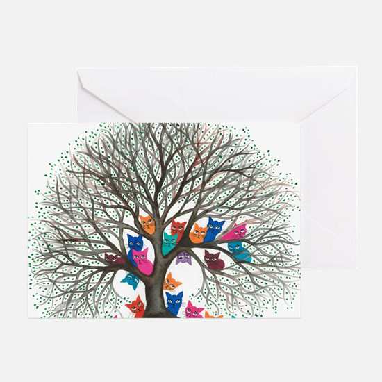 Connecticut Stray Cats in Tree by Lo Greeting Card