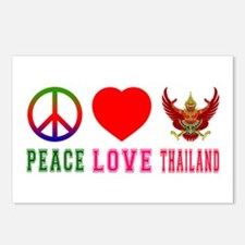 Peace Love Thailand Postcards (Package of 8)