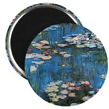 Waterlilies by Claude Monet, Vintage Impres Magnet