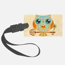 Owl's Summer Love Letters Luggage Tag