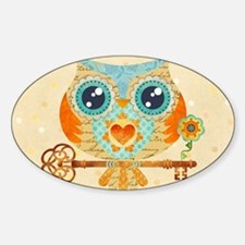 Owl's Summer Love Letters Decal