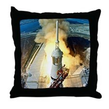 Apollo 11 Launch First moon landing Throw Pillow
