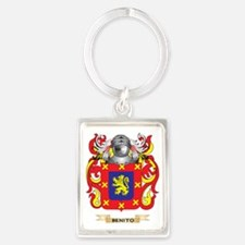 Benito Coat of Arms Portrait Keychain