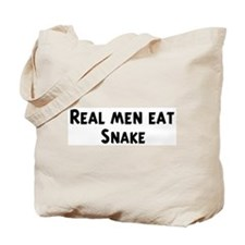 Men eat Snake Tote Bag