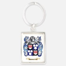 Bennetts Coat of Arms Portrait Keychain