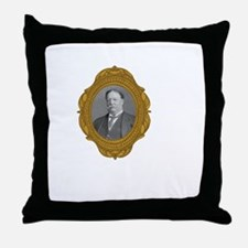 William Taft White Throw Pillow