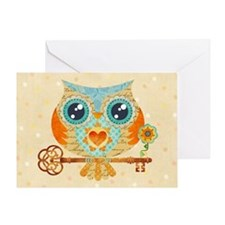 Owls Summer Love Letters Greeting Card