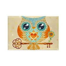 Owls Summer Love Letters Rectangle Magnet