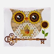 Owls Autumn Song Throw Blanket