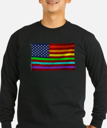 (LGBT) Gay Rainbow Pride Flag - Long Sleeve T-Shir