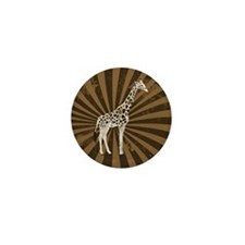 Retro Giraffe  Mini Button