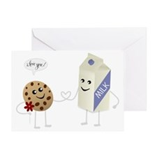 Cute Love - Milk and Cookie Greeting Card