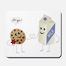 Cute Love - Milk and Cookie Mousepad