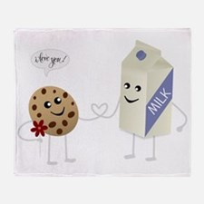 Cute Love - Milk and Cookie Throw Blanket