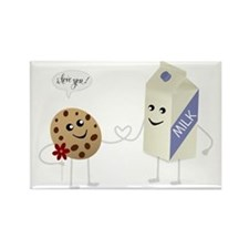 Cute Love - Milk and Cookie Rectangle Magnet