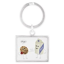 Cute Love - Milk and Cookie Landscape Keychain