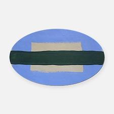Land & Sea I Oval Car Magnet
