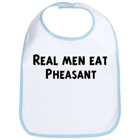 Men eat Pheasant Bib