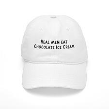 Men eat Chocolate Ice Cream Baseball Cap