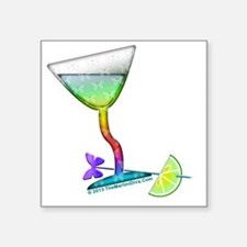 "BUTTERFLY MARTINI Square Sticker 3"" x 3"""