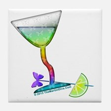 BUTTERFLY MARTINI Tile Coaster