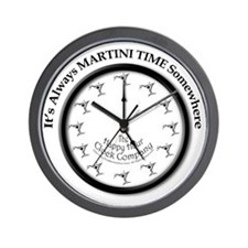 AlwaysMartiniTimeArt Wall Clock