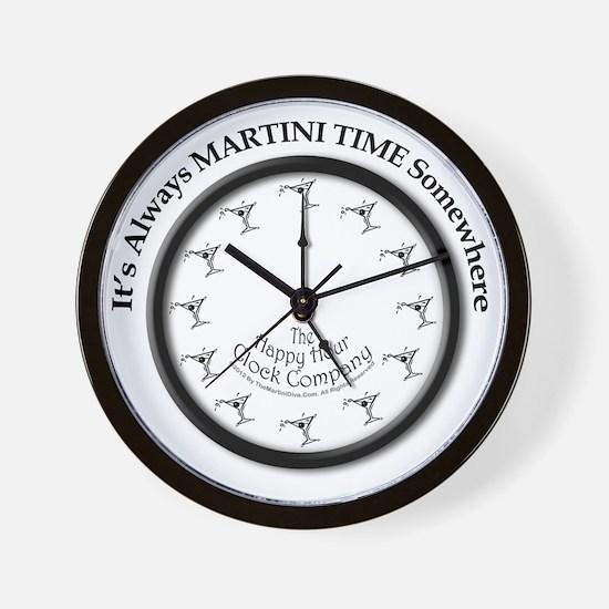 AlwaysMartiniTimeArt Wall Clock