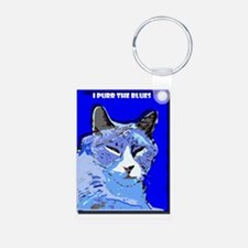 I Purr the Blues Keychains
