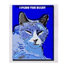 I Purr the Blues Throw Blanket