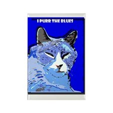 I Purr the Blues Rectangle Magnet