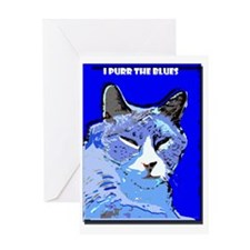 I Purr the Blues Greeting Card