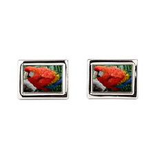 Scarlet Macaw Cufflinks