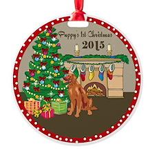 2015 Irish Setters 1St Christmas Ornament