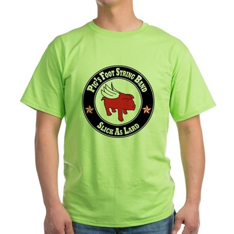 Pigs Foot String Band - Red Pig Green T-Shirt