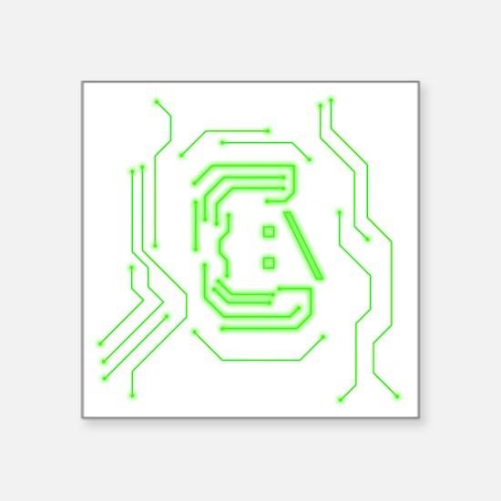"Circuit Square Sticker 3"" x 3"""