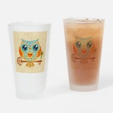 Owls Summer Love Letters Drinking Glass