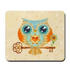 Owls Summer Love Letters Mousepad