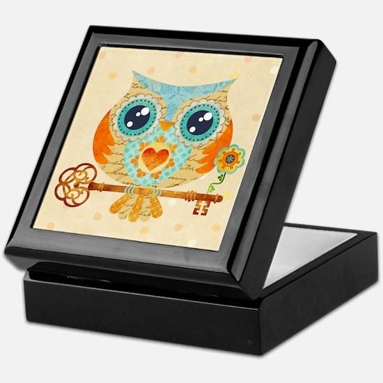 Owls Summer Love Letters Keepsake Box